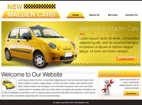New Malden Taxi Car website design page 1