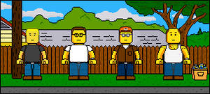 Lego'd King of the Hill group