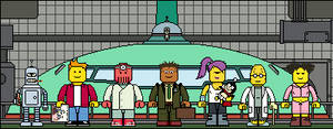 Lego'd Futurama group