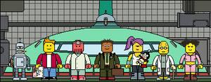 Lego'd Futurama group by Ripplin