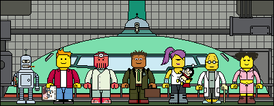 Lego'd Futurama group by Ripplin