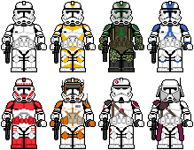 Lego'd Clone Troopers 2 by Ripplin