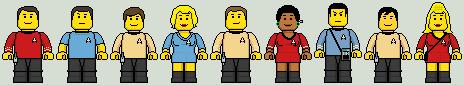 Lego'd Star Trek TOS by Ripplin