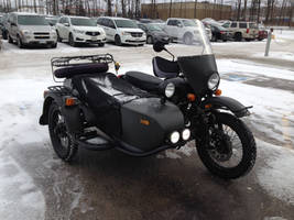Ural motorcycle in the snow 2