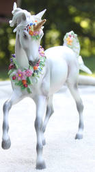 Breyer Unicorn Aurora Stock 7 by Lovely-DreamCatcher