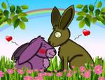 Love of rabbits (Springtrap x Bonnie) by TheTigressFlavy