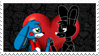 Shadow Bonnie x Toy Bonnie (stamp!) by TheTigressFlavy