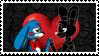 Shadow Bonnie x Toy Bonnie (stamp!) by flavy01