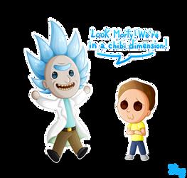 -Chibi Rick and Morty-