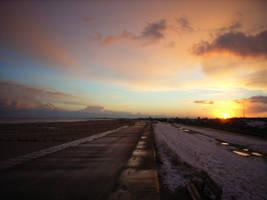 Sunset beach by arkayaStock
