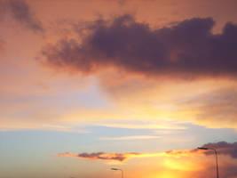 Sunset beach01 by arkayaStock