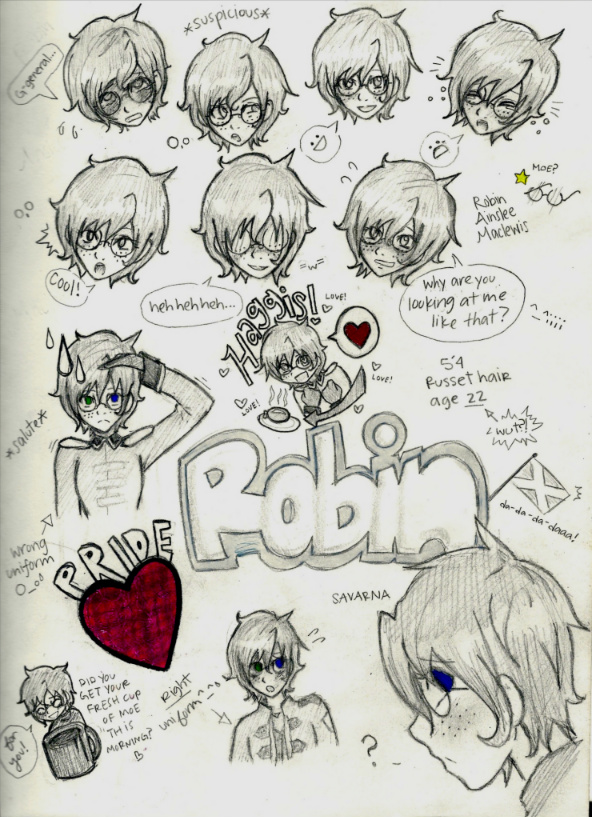Robin Expressions by 4Fysh on DeviantArt
