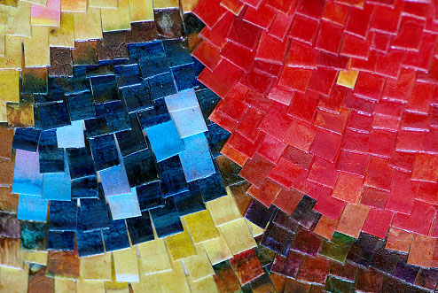 Mosaic butterfly - fragment