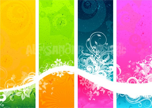 colour stripes vector