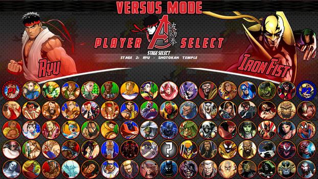 Street Fighter/Avengers - The Roster
