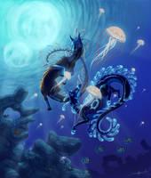 Underwater Lightshow by TransparentGhost