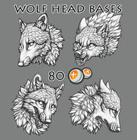 Wolf head bases by TransparentGhost
