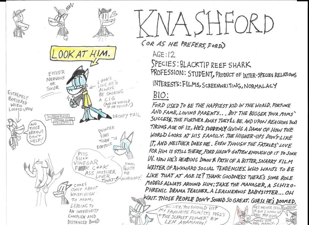 Fanged Fatales Profiles: Knashford The Shark by astrolupine