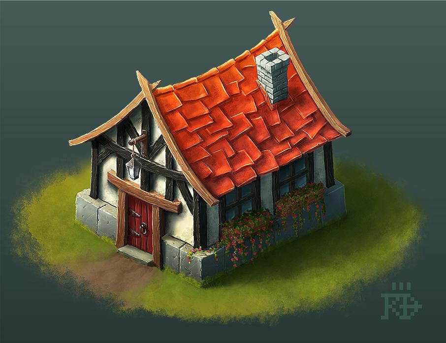 Cute little isometric fantasy house