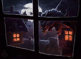 Werewolf pack on the hunt /speedpaint by RGBfumes