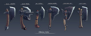 Orkish Axes - game items designs