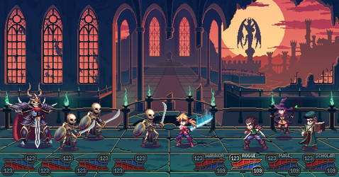 Undead castle battle - pixel art game mockup by RGBfumes