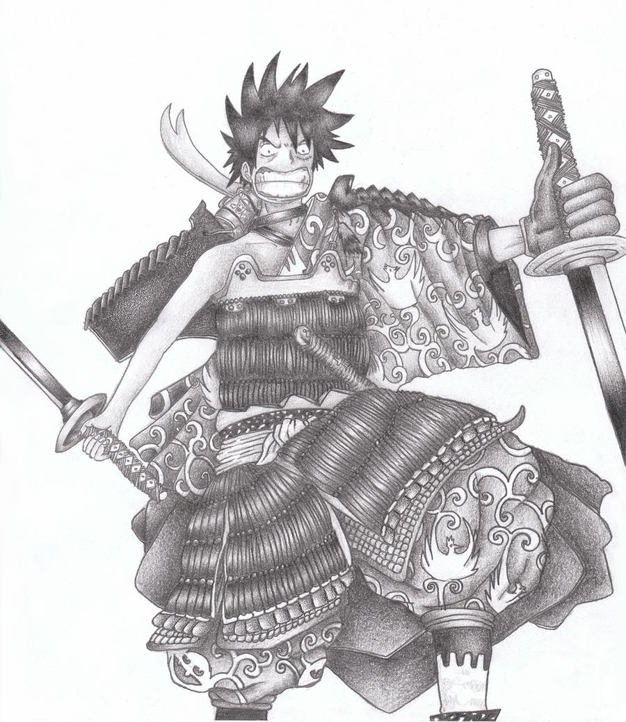 One piece - Luffy draw by