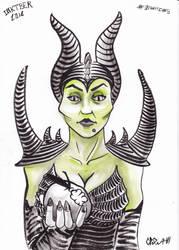 wicked witch inktober by NitenNoYume