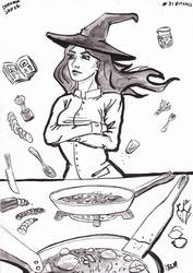 Cook Witch day 27 inktober 2016