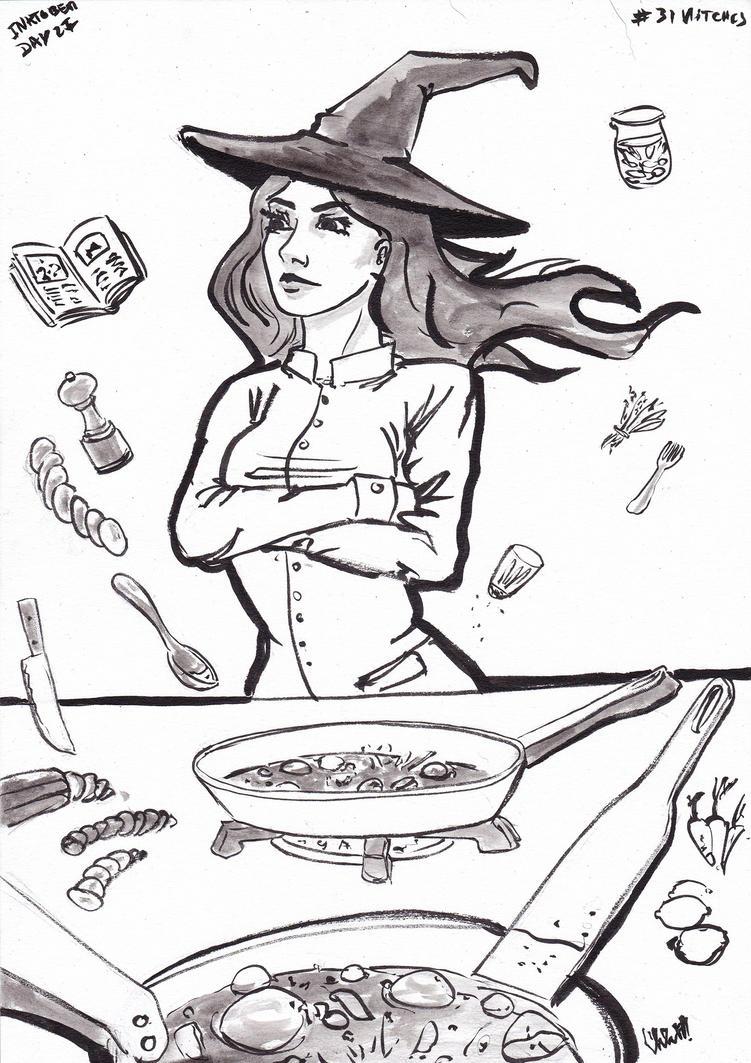 Cook Witch day 27 inktober 2016 by NitenNoYume