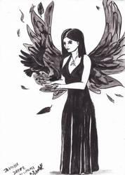 Inktober 28 2016 goth witch