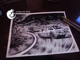 Initial D Practice by MarieJaneWorks