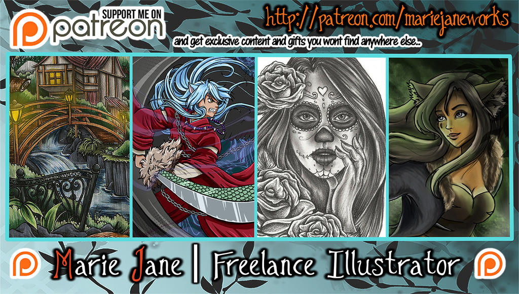 Patreon Banner ~ SUPPORT MJ by MarieJaneWorks