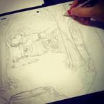 Sketchbook ~ Airplane Crash