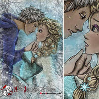 Jack Frost and Elsa by MarieJaneWorks