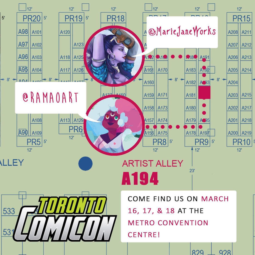MJ will be at Toronto Comic Con 2018! by MarieJaneWorks