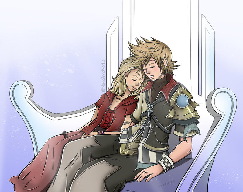 Commission~ Ventus x Rika by MarieJaneWorks