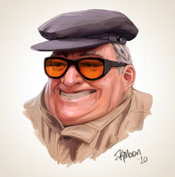 Old man grinning by Kate3078