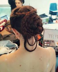 Katniss Everdeen hairdo by Cami86