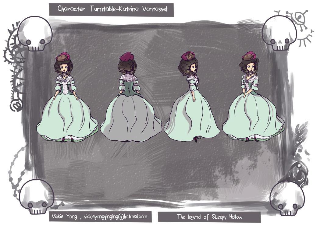 character turntable Katrina Vantassel by BubbleDriver