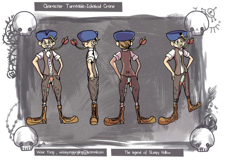 Ichabod Crane Character Design by BubbleDriver