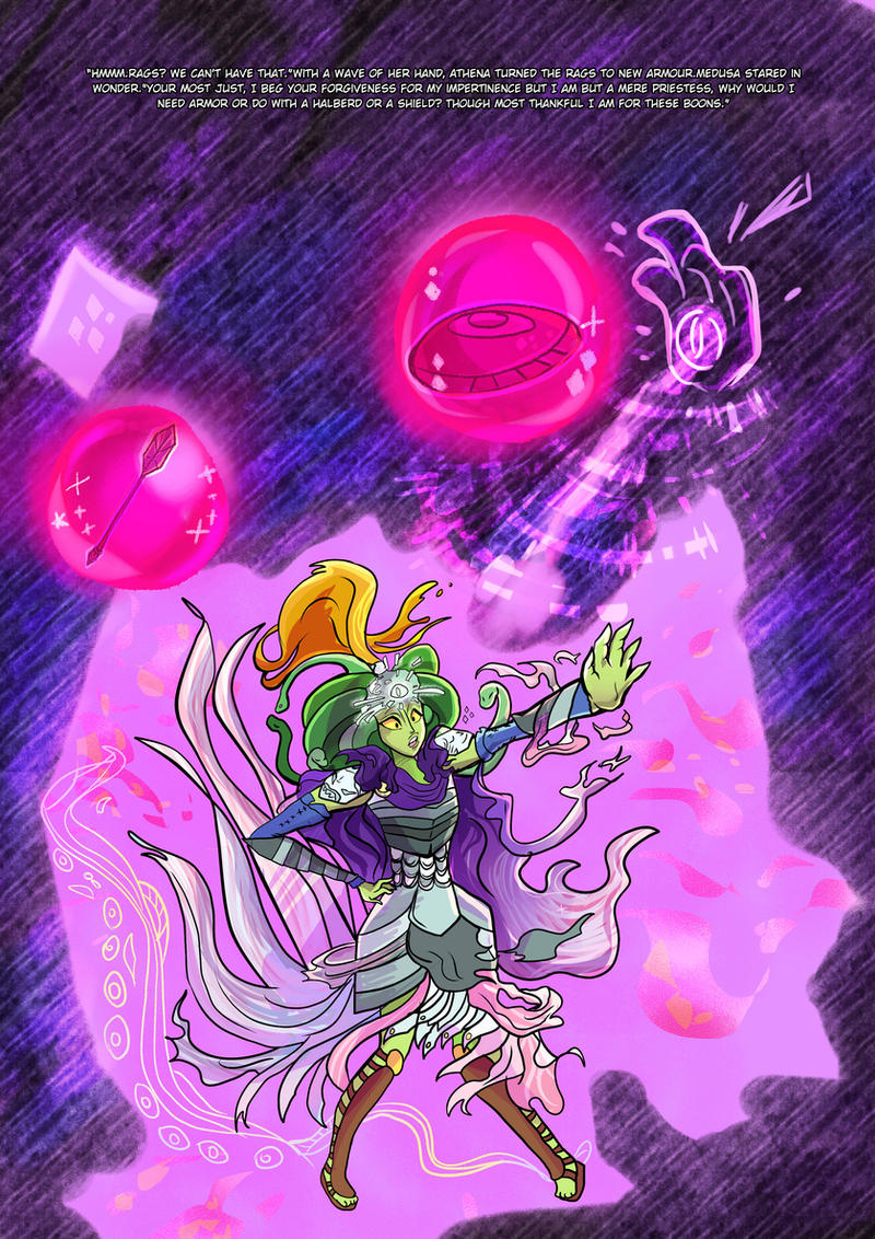 Medusa:Warrior of Justice the Graphic novel Pg 10 by BubbleDriver