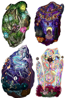Sleepy Hollow bookmark designs by BubbleDriver