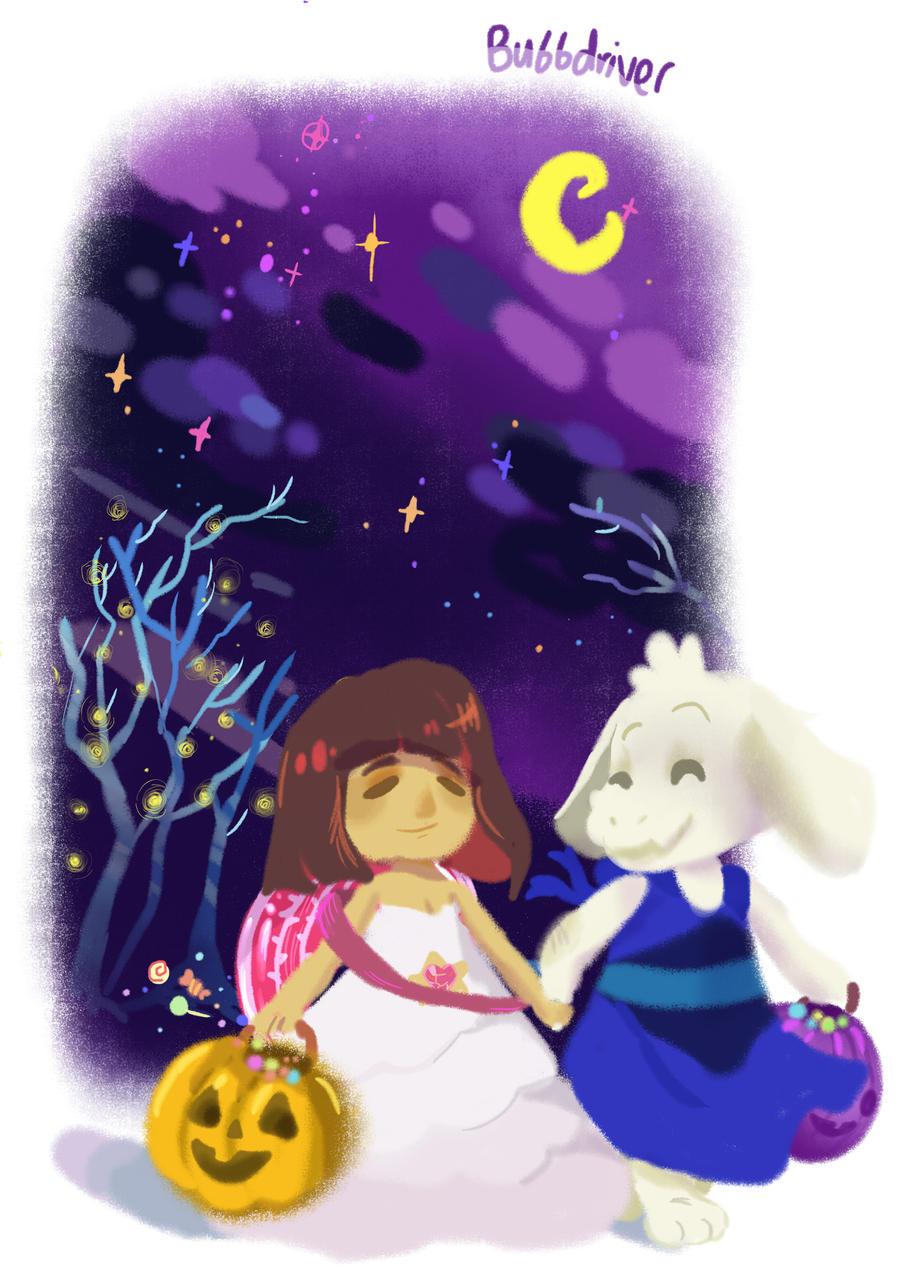 Undertale Halloween by BubbleDriver