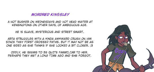 ID! Comic -Mordred Kingsley by BubbleDriver