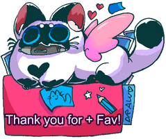 Thank you for supporting my artses! by BubbleDriver