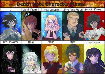 Death Note Character Meme by BubbleDriver