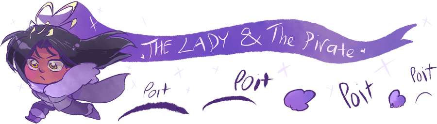 The Lady and The Pirate Update panel for Journals