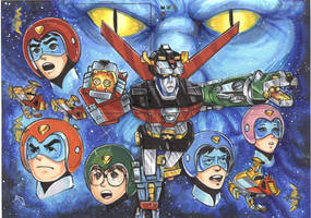 Voltron Sketch Card Puzzle by AHochrein2010