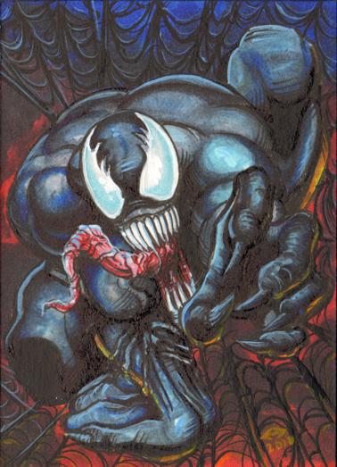 Venom Personal Sketch Card by AHochrein2010